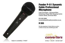 Fender P-51 Dynamic Cable Professional Microphone