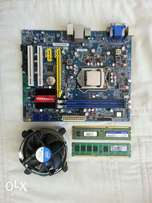 H61 motherboard,cpu,ram and fan