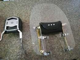 Harley sportster 2009, 2006 sissy bar and screen for sale