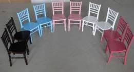 Events and party Tiffany chairs for kids in various colors for sale