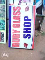 Shop signages and displays