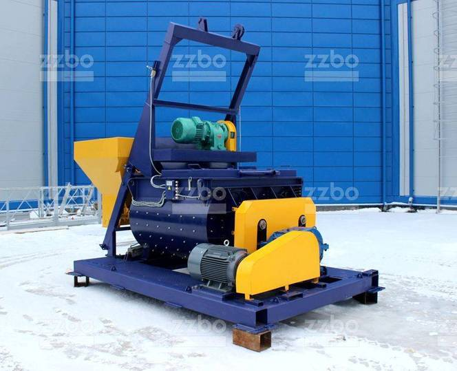 ZZBO Twin-shaft Concrete Mixer With Skip Bp-2g-1200s - 2019