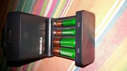 Duracell Battery Charger with Rechargeable Batteries