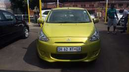 2014 Green Mitsubishi Mirage 1,2 for sale