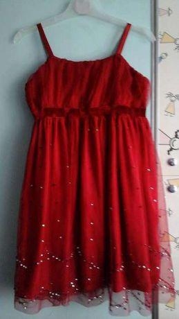 Czerwona Sukienka na święta wizytowa roz .128134 Warszawa