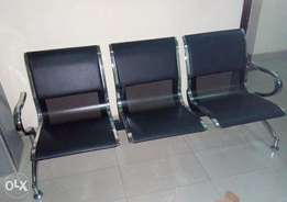 New Quality Leather Black 3in1 Airport Chair