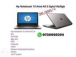 Hp notebook 15 AMD laptop A6 2.2ghz/1tb/8gb/ Radion graphics