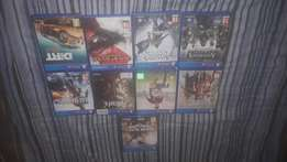 Ps4 1tb with 9 games