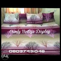 PURPLE bedsheet with 4 pillowcases. 7x7