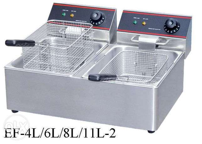 Single and double well fryer electrical gas good qulity