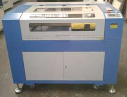80 Watt PS 9060 Laser Cutter With Honeycomb And water Chiller For Sale