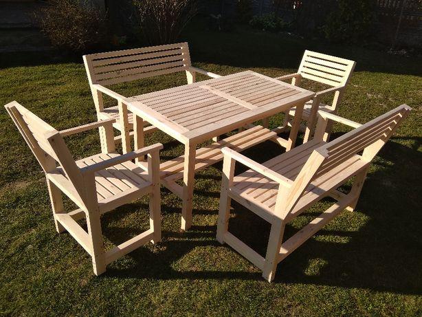 Poważne Nowoczesne Meble Ogrodowe drewniane ( stół krzesła ławka ) Opatów KQ86