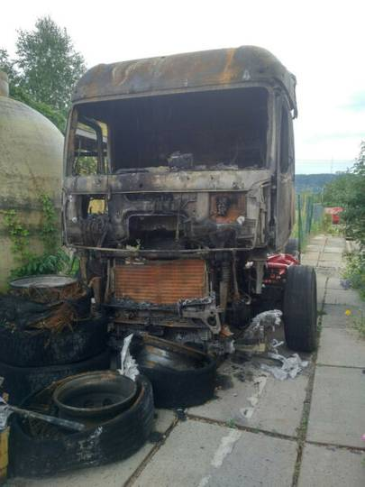 Mercedes-Benz Actros 1848 Brandschaden Vollausstattung - 2014