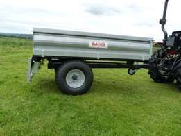 New Tractor Tipping Trailer 1.5 Ton/ 1500kg with Road lights.
