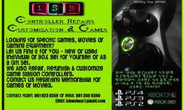 We repair & customize Xbox & PS Controllers