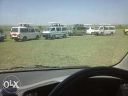 Car/Van for hire within & all Kenyan Parks & Reserves