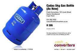 Cadac 5kg Gas Bottle (As New)