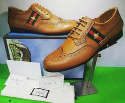 Gucci leather shoes lace up