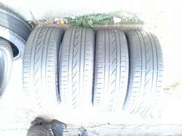 Set of runflat continental tyres