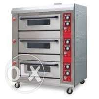 6 trays gas oven