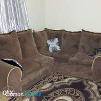 L shaped brown seat for sale