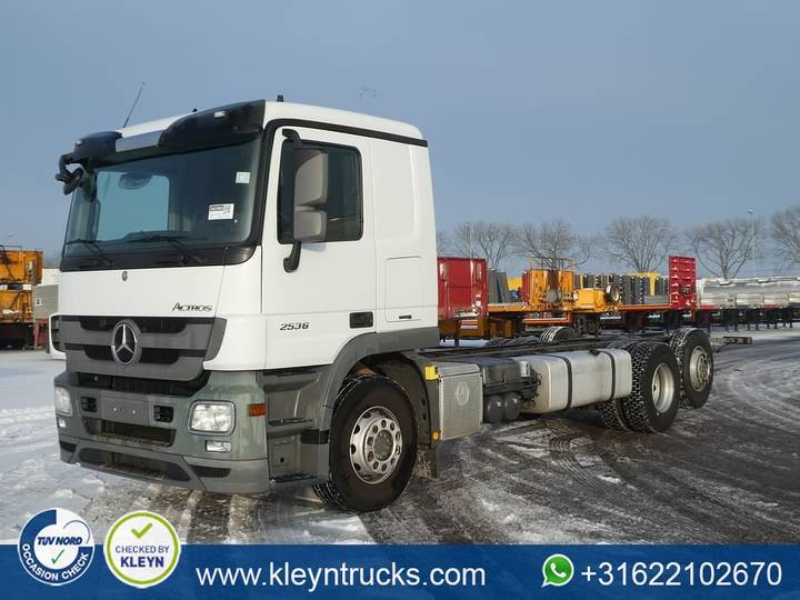 Mercedes-Benz ACTROS 2536 L l689 steel in front - 2012