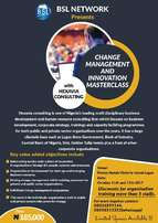 Change management and innovation masterclass