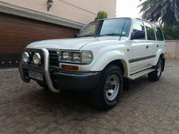 1997 Toyota Landcruiser 4x4. With low km and two elderly owners.