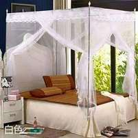 Mosquito nets with metallic stands delivery free in mombasa.