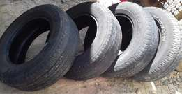 4 tyres for sale. 2 Auto Grip, 1 Dunlop,1 Michelin. All size 265/65/17