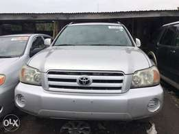Tokunbo Accident Free Toyota Highlander 3Rows Sits