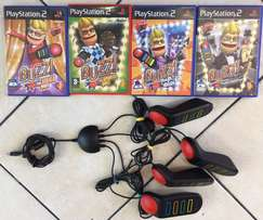 PS2 BUZZ set and BUZZ Games