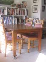 Solid Oak Antique Dining Table