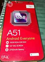 Itel A51. 5.5inch/16GBRom/Metal. Ksh 8499. Free Delivery. Brand New!