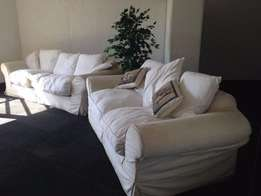 White 2 and 3 Seater Couch Set