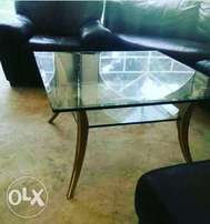 Heavy tampered glass coffee table from germany at 30k
