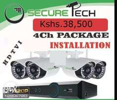 4 cameras cctv complete package with installation