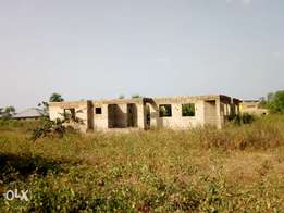 STandard highly spacious linted level uncompleted 3 bedroom bungalow
