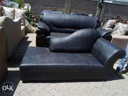 A brand leather seven seater black in colour