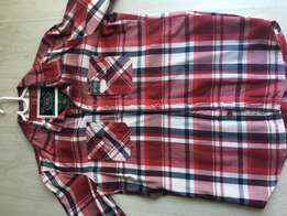red check Superdry shirt large