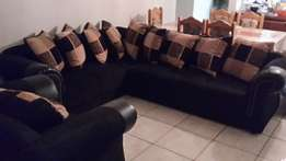 7 Seater Gomma Gomma L shaped Lounge Suite