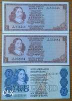 x2 1970's R1,1980's R2 note (uncirculated)