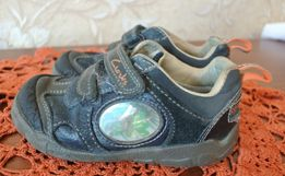 c2a4b1a0d Фирменные Clarks Stompo кожаные кроссовки 24р 15,5см на осень туфельки