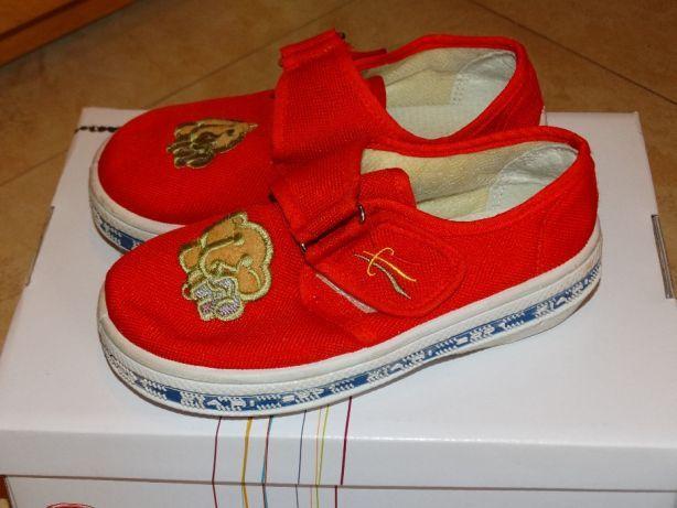 Buty Trampki Kapcie Czerwone ze słonikiem Nowe rozmiar 28