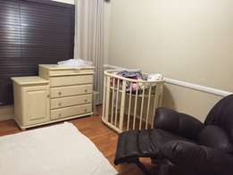 Baby compactum and handmade cot for sale