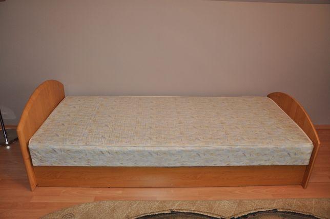 łóżko Jedoosobowe Z Materacem 90x200 I Pojemnikiem Na