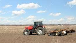 Farm tractor, harrowing, ploughing, tinga for hire