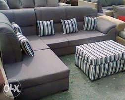 *delivery Offer* L Baraza Grey Trend Fashion Seat*