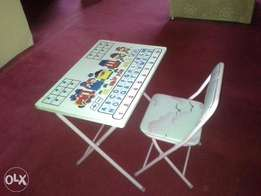 Kiddies table and chair
