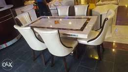 Quality cream Executive marble by six with six chairs